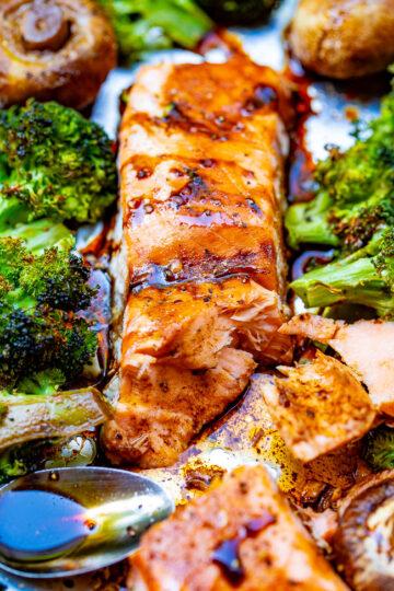 Sheet Pan Balsamic Salmon and Vegetables