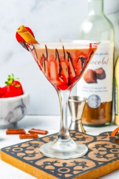 Chocolate Covered Strawberry Martini