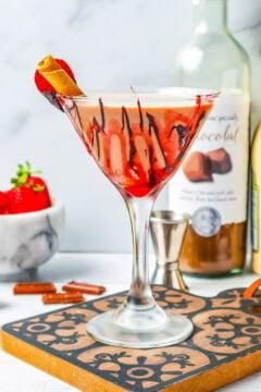 Chocolate Covered Strawberry Martini