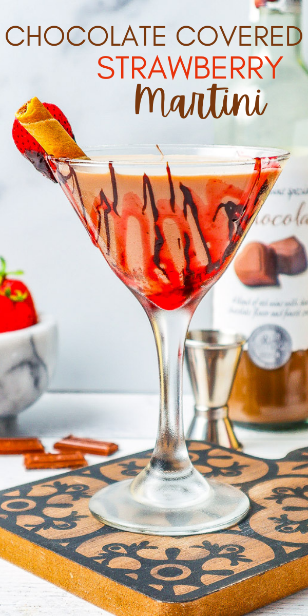Chocolate Covered Strawberry Martini – An indulgent chocolate martini that's perfect for Valentine's Day, anniversaries, or a girls-night-in! Plenty of chocolate flavor in this festive, fun, and easy martini!
