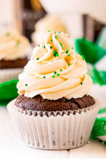 Irish Chocolate Cupcakes