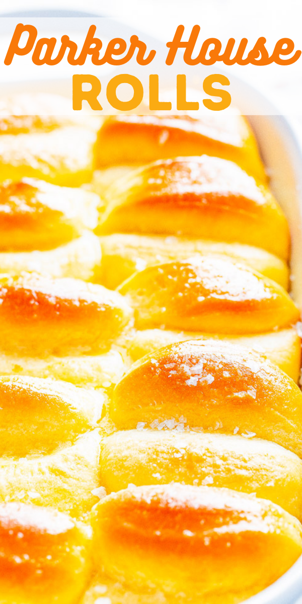 Parker House Rolls - The BEST homemade dinner rolls because they're so light, airy, fluffy and practically melt in your mouth! They have a wonderful buttery flavor that will make them an instant family favorite at your next holiday gathering or make them for a special meal!