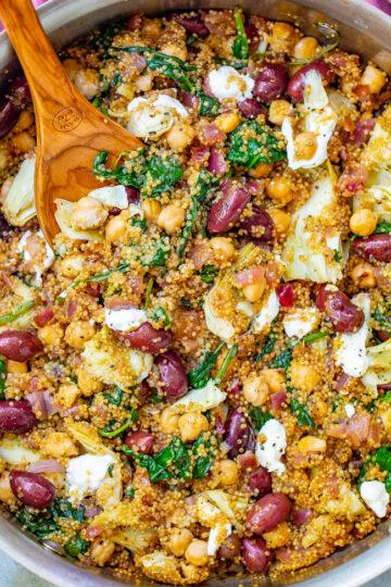 Mediterranean Quinoa and Chickpea Salad