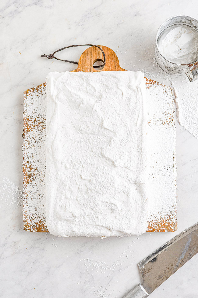 Homemade Marshmallows – Easier than you think to make and the results are so WORTH IT! Chewy, sticky, bouncy, soft yet firm, and they blow store bought marshmallows away! Learn how to make marshmallows at home with my straightforward and simple recipe!