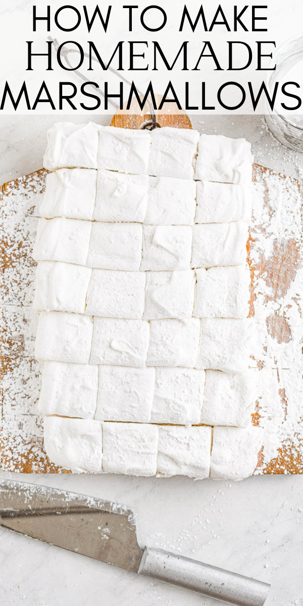 Homemade Marshmallows - Easier than you think to make and the results are so WORTH IT! Chewy, sticky, bouncy, soft yet firm, and they blow store bought marshmallows away! Learn how to make marshmallows at home with my straightforward and simple recipe!