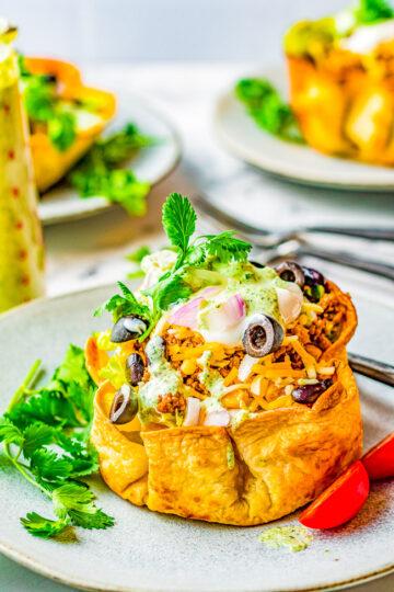 Beef Taco Salad Bowls