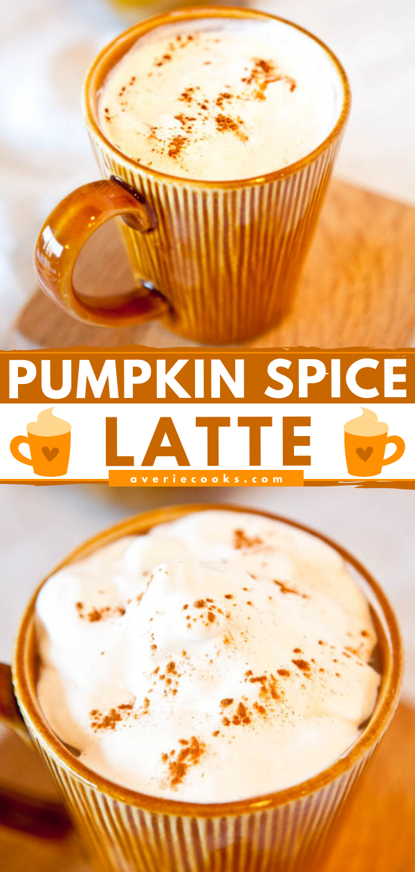 No need to pay for pricey coffee-shop pumpkin spice lattes with this easy, homemade version that uses real pumpkin puree (no fake, sugary syrups) and can be made quickly and inexpensively at home. And now you can enjoy pumpkin spice lattes year-round from home.