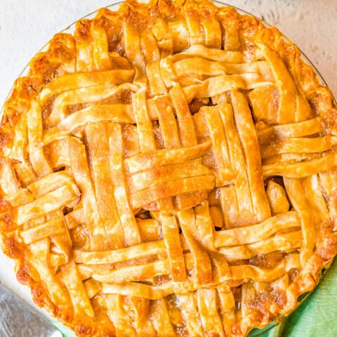 Best Homemade Apple Pie - This fabulous apple pie is a specialty of my grandma's. The sauce for the apples is slowly poured over the lattice crust until it fills the shell. When it bakes, the top has a nice crispy coating over the flaky crust. The center is full of sweet and tart tender apples with just the right amount of cinnamon and sugar. This really is the BEST apple pie!